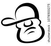 young male face cartoon vector... | Shutterstock .eps vector #1078503275