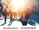 urban girl standing out from... | Shutterstock . vector #1078504808