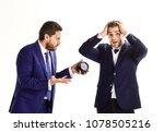 business partners with tense... | Shutterstock . vector #1078505216