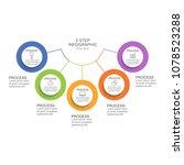 circle infographic design... | Shutterstock .eps vector #1078523288