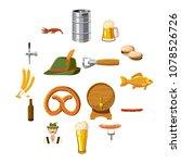 oktoberfest icons set in... | Shutterstock .eps vector #1078526726