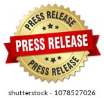 press release round isolated... | Shutterstock .eps vector #1078527026