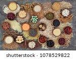 dried macrobiotic health food... | Shutterstock . vector #1078529822