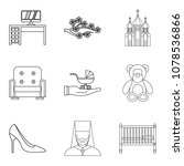 husband icons set. outline set... | Shutterstock .eps vector #1078536866