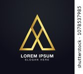 premium initial letter a logo... | Shutterstock .eps vector #1078537985