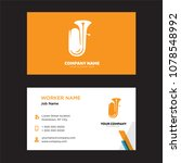 tuba business card design... | Shutterstock .eps vector #1078548992