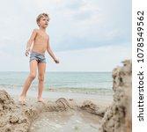 portrait of young blond boy... | Shutterstock . vector #1078549562