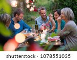 beautiful summer evening in the ... | Shutterstock . vector #1078551035