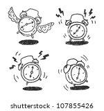 four alarm clocks icons | Shutterstock .eps vector #107855426
