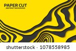 black and yellow wave. abstract ... | Shutterstock .eps vector #1078558985