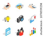 business approach icons set.... | Shutterstock .eps vector #1078559258