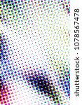 modern colorful halftone raster ... | Shutterstock . vector #1078567478
