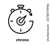chrono icon isolated on white... | Shutterstock .eps vector #1078570946
