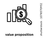 value proposition icon isolated ... | Shutterstock .eps vector #1078570952