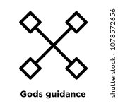 gods guidance icon isolated on... | Shutterstock .eps vector #1078572656
