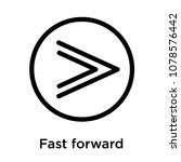 fast forward icon isolated on... | Shutterstock .eps vector #1078576442