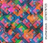 urban pattern. seamless... | Shutterstock . vector #1078578725
