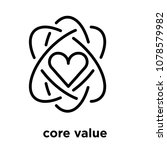 core value icon isolated on... | Shutterstock .eps vector #1078579982