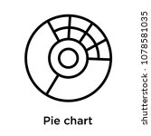 pie chart icon isolated on...