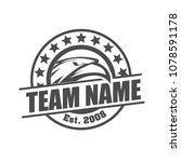 sport team logo design template | Shutterstock .eps vector #1078591178