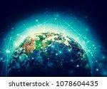 earth from space. best internet ...   Shutterstock . vector #1078604435