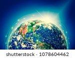 earth from space. best internet ...   Shutterstock . vector #1078604462