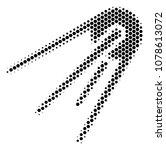 halftone hexagonal first...   Shutterstock .eps vector #1078613072