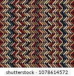 tribal multicolored herringbone ... | Shutterstock .eps vector #1078614572