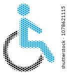 halftone hexagon disabled... | Shutterstock .eps vector #1078621115