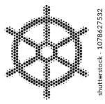 halftone hexagonal boat... | Shutterstock .eps vector #1078627532