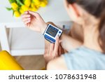 patient measuring blood... | Shutterstock . vector #1078631948
