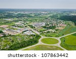aerial view over the city   Shutterstock . vector #107863442