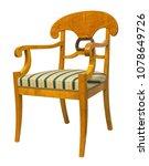antique biedermeier style chair ... | Shutterstock . vector #1078649726