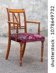 vintage antique mahogany chair... | Shutterstock . vector #1078649732