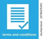terms and conditions icon...   Shutterstock .eps vector #1078655345