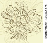 abstract doodle flower with... | Shutterstock . vector #107865575