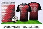 soccer jersey and t shirt sport ... | Shutterstock .eps vector #1078660388