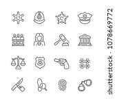 law and justice related icons ... | Shutterstock .eps vector #1078669772