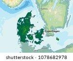 denmark physical map   Shutterstock .eps vector #1078682978