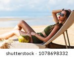 summer lifestyle fashion... | Shutterstock . vector #1078698332