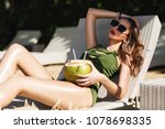 summer lifestyle fashion... | Shutterstock . vector #1078698335