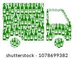 shipment van composition of...   Shutterstock .eps vector #1078699382