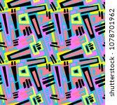 seamless brushpen textile... | Shutterstock .eps vector #1078701962
