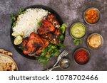 tandoori chicken wings with... | Shutterstock . vector #1078702466