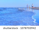 white waves and blue sea water... | Shutterstock . vector #1078703942