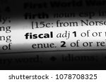 fiscal word in a dictionary.... | Shutterstock . vector #1078708325