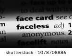 faceless word in a dictionary.... | Shutterstock . vector #1078708886