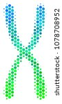 halftone circle chromosome icon.... | Shutterstock .eps vector #1078708952
