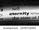 eternity word in a dictionary.... | Shutterstock . vector #1078710392
