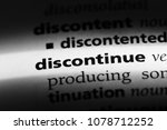 Small photo of discontinue word in a dictionary. discontinue concept